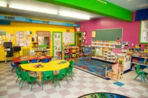 Bright happy rooms help your child develop at Toddler Town!