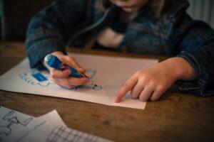 kid drawing at preschool